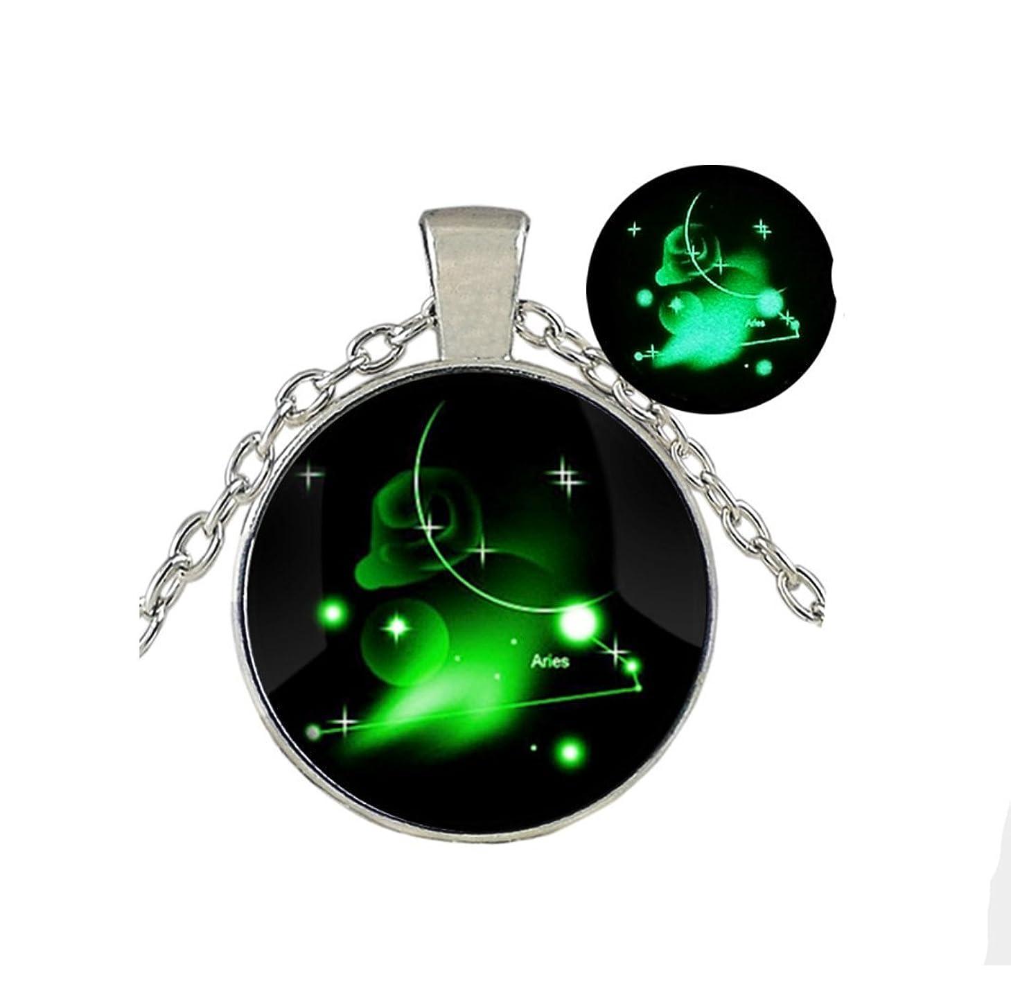 ほうき国勢調査もっともらしいGlow in the Dark /グローネックレス/ Glowing Jewely / Constellation Ariesジュエリー