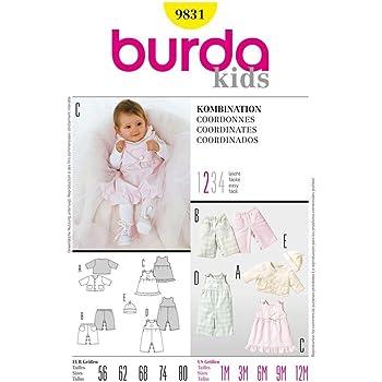 Burda Schnittmuster 9802 Babykleid Gr 62-86