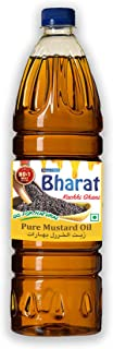 Bharat Pure Mustard Oil | The Finest (Kachi Ghani) Mustard Cooking Oil, 1 Litre