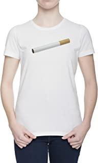 Cigarrillo Camiseta Para Mujer Blanca Todos Los Tamaños | Women's White T-Shirt Top