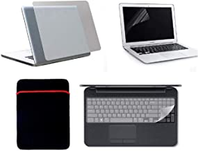 Fedus Multicolor 4 in 1 Kit for 15.6 inch Laptop Back Cover Screen Guard and Keyboard Protector,Sleeve Bag All Laptop Size