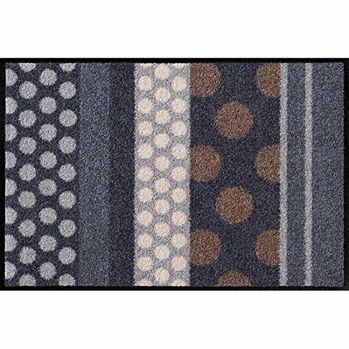 Salonloewe Fußmatte waschbar Glamour Dots Grau 75x120 cm SLD0457-075x120