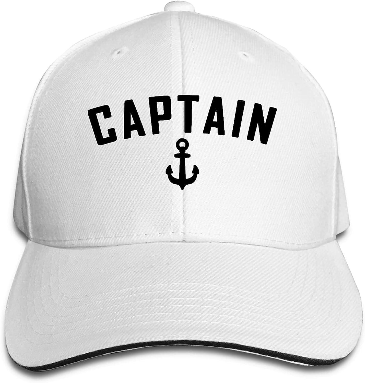 kaixinguo Captain Nautical Quote Baseball Cap,Unisex Adjustable Washed Cotton Denim Cap for Men and Women