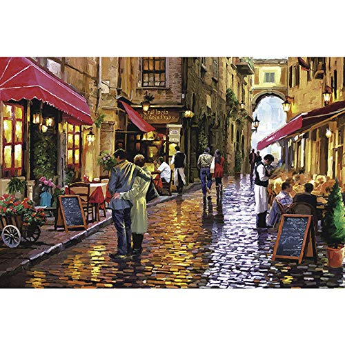 yyyr Adults Wooden Jigsaw Puzzle City Street After Rain DIY Educational Puzzle Christmas Home Decor Gift 1000 Pieces
