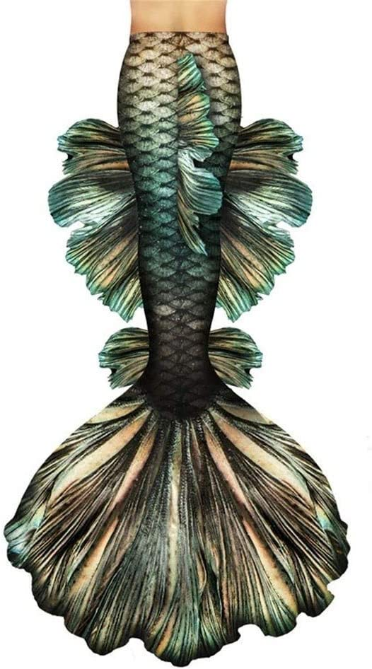 HJKKLL Mermaid Tails Swimsuit with Fin Swimming Costume,Mermaid