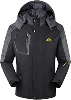 Lottaway Fleece Lined Durable Storm Breath Outdoor Warming-Up Ski Parka Jacket