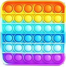 AURSTORE Jouets Anti-Stress - Fidget Toy- Pop Bubble - Jouets Sensoriels à Presser en Silicone pour la Concentration et Le Calme it (Carré Multicouleur)