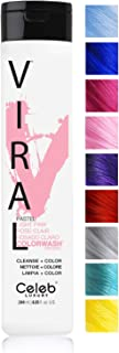 Celeb Luxury Viral Colorwash: Color Depositing Shampoo Concentrate, 10 Vivid and Pastel Colors, Stops Fade, 1 Quick Wash, Cleanse + Color, Sulfate-Free, Cruelty-Free, 100% Vegan