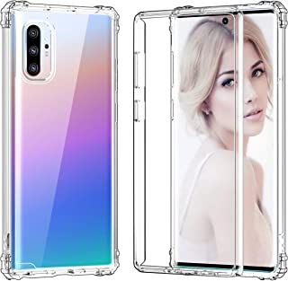 Hocase Galaxy Note 10 Plus Case with Reinforced Corners, Drop Protection Soft TPU Bumper+Clear Hard Back Hybrid Protective Phone Case for Galaxy Note 10+/Galaxy Note 10+ 5G 2019 - Crystal Clear