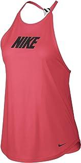 Nike Women's TR SPRT DSTRT ELSTKA GRX Tanks, Black (Ember Glow/black), Large