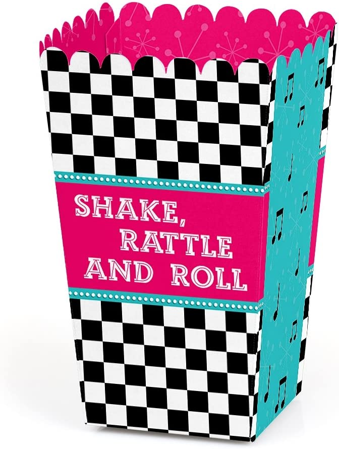50's Inventory cleanup selling sale Sock Hop - 1950s National products Rock N Favor Roll Party Boxe Treat Popcorn