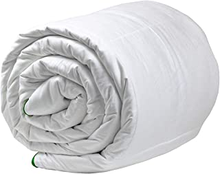 HealthyLine All Season Silk Comforter with 100% Cotton Satin Shell - Allergy-Free -Light Weight Soft (Queen, 100GSM)