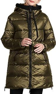 Aiweijia Chaqueta Acolchada para Mujer Abrigo De Algodón Suelto Cierre De Cremallera De Gran Tamaño Estilo De Calle Invier...
