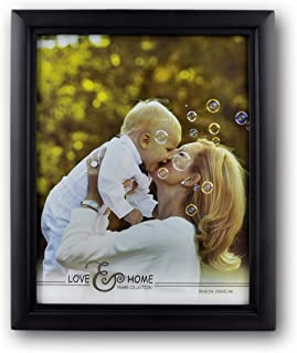 Spiretro 8 x 10 inch Classic Curve Edge, Solid Wood Document/Picture Frame with Plexiglass, Vertical and Horizontal for Ta...