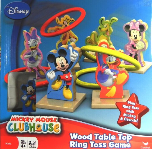 Mickey Mouse Clubhouse Wood Table Top Ring Toss Game