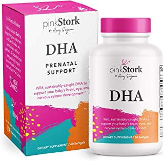 Pink Stork DHA: Prenatal DHA Multivitamin, Enhances Baby's Brain + Nervous System Development, Support from Prenatal Vitam...