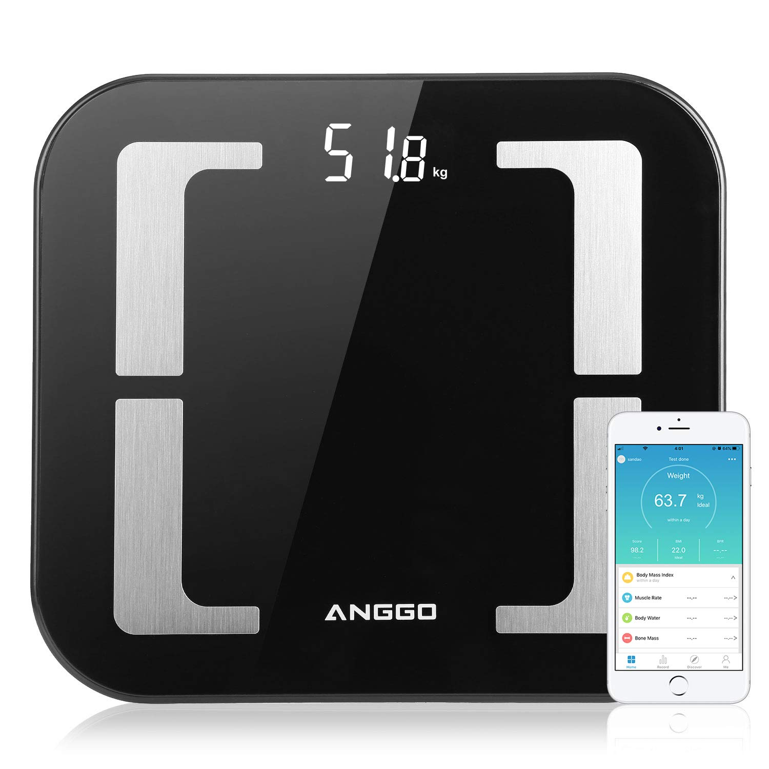 Scales for Body Weight ANGGO Fat Outlet ☆ Free Shipping Scale Washington Mall Smart Dig BMI
