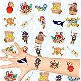 German Trendseller® - Piraten Kinder Tattoos - Set ┃ NEU ┃ Piraten Party ┃ Kindergeburtstag...