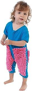 uBabamama Baby Kleidung Wischmop Strampler Overall Mädchen Jungen Jumpsuit Babykleidung zum Krabbeln, Reinigung Mop Schlafstrampler Monate Kleinkind Kriechen Overall Junge