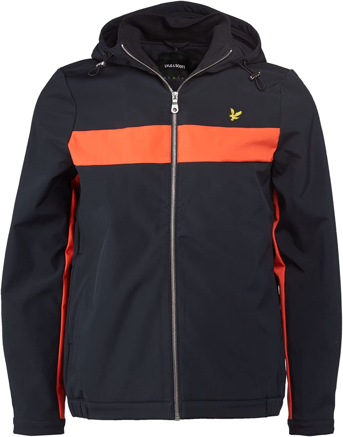 f20ecbb09e5a1 Lyle & & & Scott Mens Navy Hooded Softshell Jacket - S e9f4cc - pyjd ...