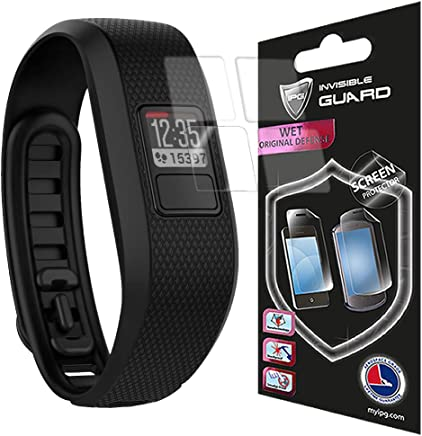 for Garmin Vivofit 3 Screen Watch (4 Units) Protector Skin Lifetime Replacements Anti - Bubble/Touch Responsive/Ultra HD Premium Shield Invisible Protection Anti Scratch by IPG
