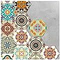 APSOONSELL Decorative Tile Stickers, Peel and Stick Vinyl Adhesive Tiles for Kithchen Bathroon Backsplash