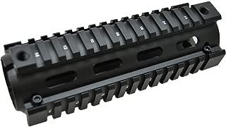 クワッドレイル ハンドガードシステム RIS RAS M4 / AR15 に取付可能 質感抜群! アルミ合金製 エアガン サバゲー サバイバルゲーム 20mm レール