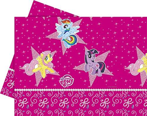 Unique Party Supplies Sparkle My Little Pony Tischdecke aus Kunststoff, 1,8m x 1,2m
