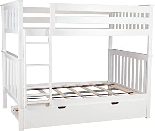 Best white bunk bed trundle Reviews