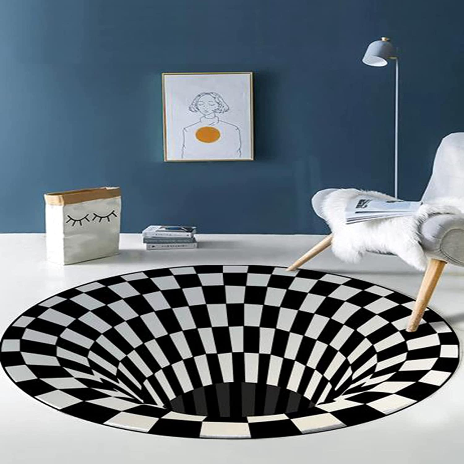 XQBAIHUO Recommendation Round Carpets 3D Bottomless Hole Area Optical Illusion Ranking TOP20