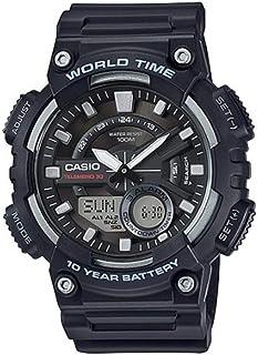 Casio Rubber Black Rubber Casual Watch For Men - AEQ-110W-1BVDF