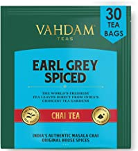 VAHDAM, Earl Grey Masala Chai Tea Bag | 30 bolsitas de té Pyramid (juego de 2) | Especias 100% naturales | Té negro con aceite de bergamota Spicy Chai tea bag Earl Grey Tea de la India