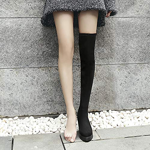 Shukun Laarsjes over de Knee Boots Vrouwen Increased Boots Thick Platform Long Boots Wedges Boots Children Thick Bottom