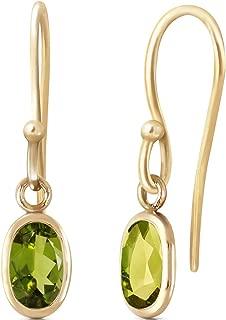 14K Solid Rose Gold Faithful Natural 1 Carat Peridot Earrings
