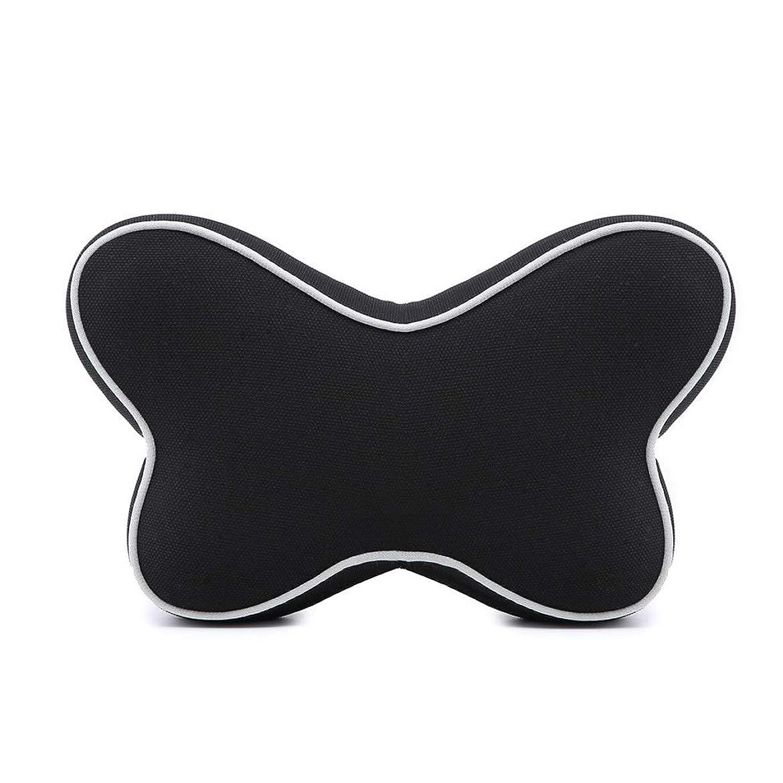 無効にする摂氏ブラウザ記憶綿の電話ヘッドレスト車の記憶綿の首の枕、子供および大人のために適した快適な旅行ヘッドレストの首の睡眠の枕、,Black