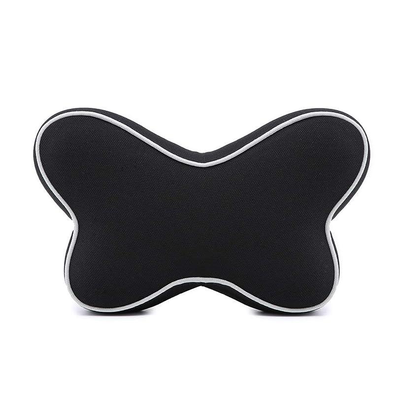 完全に変位そのような記憶綿の電話ヘッドレスト車の記憶綿の首の枕、子供および大人のために適した快適な旅行ヘッドレストの首の睡眠の枕、,Black