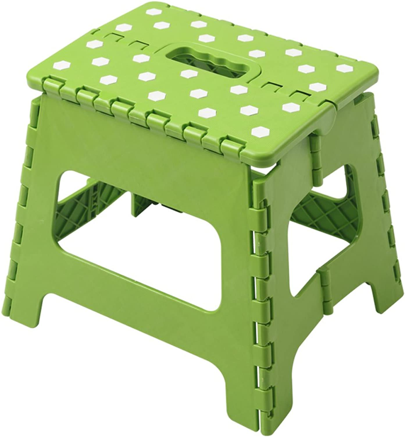 Folding Step Stool  Portable for Kids Or Adult 27cm High 1KG bluee Pink Green Yellow (color   Green)