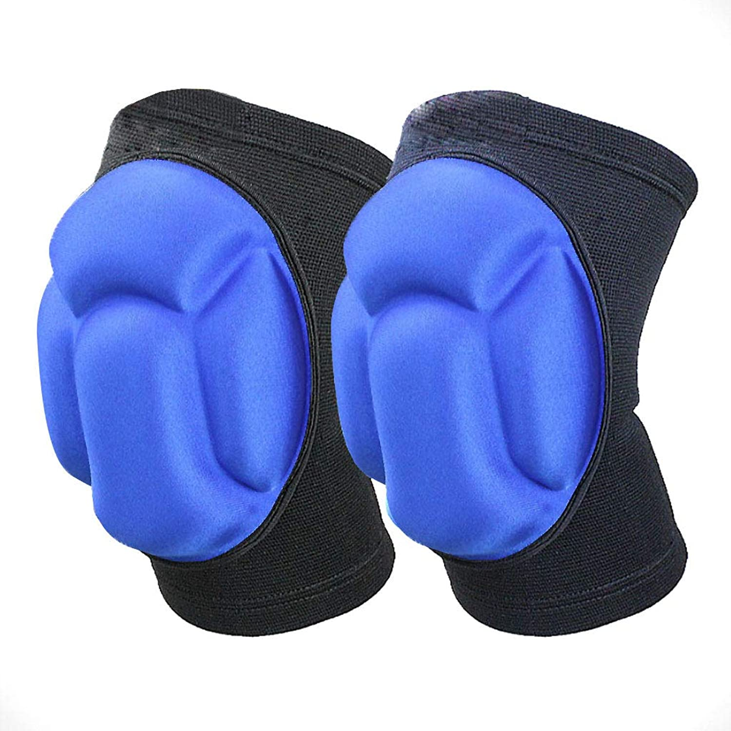 Sponge Pad Predective Knee Pads, Adjustable Knee Strap Brace Sports Knee Pads for Knee Pain Relief (2 Packs)