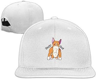 Buff Corgi Snapback Unisex Adjustable Flat Bill Visor Hip-Hop Hat