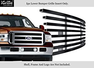 APS Compatible with 05-07 F250 F350 Excursion Black Bumper Stainless Steel Billet Grille F65356J
