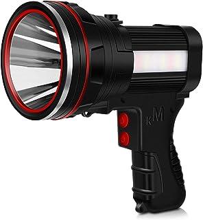 Mo.tools Rechargeable spotlight, Super Bright 6000 Lumens LED Flashlight Handheld spotlight,10000mAh Long Lasting Large Fl...