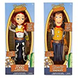 Disney Store Exclusive Toy Story 3 Talking Woody and Jessie Dolls 16'
