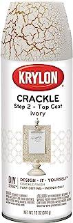 Krylon K08420007 Top Coat Clear Crackle Finish Paint, 12 ounces