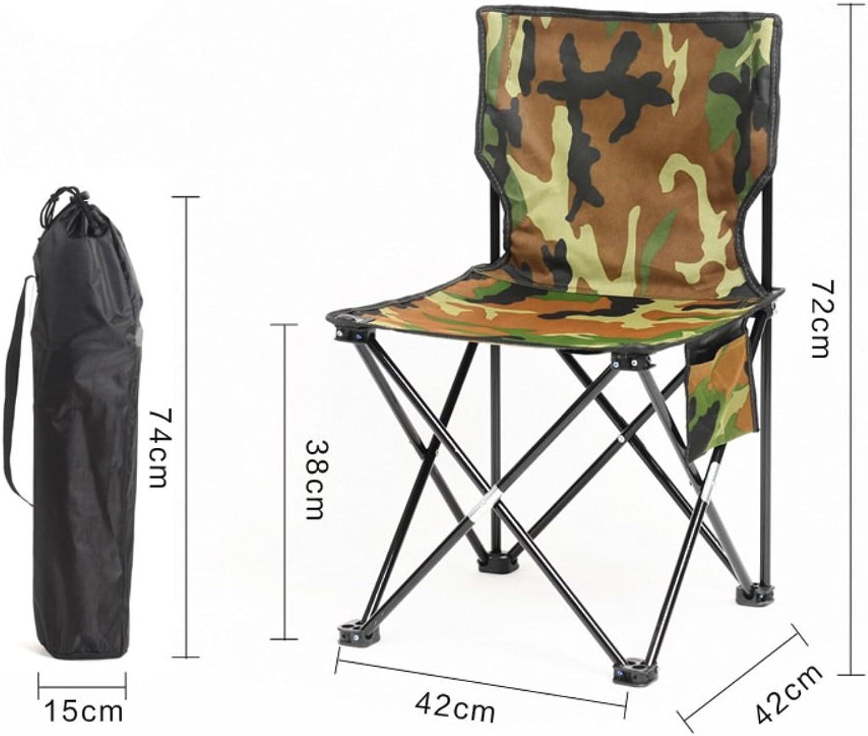 Outdoor Folding Chair, Portable Camping Beach Fishing Chair Sketch Chair Mazar Small Chair Folding StoolH