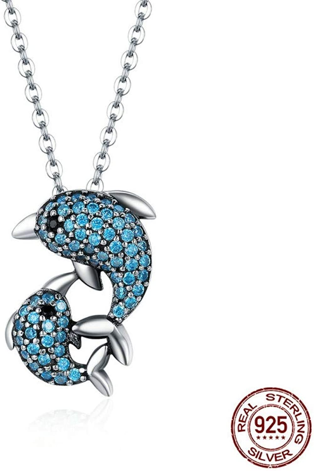 QMM necklace Pendant Authentic 925 Sterling Silver Story of Clear Cz Pendant Necklaces for Women Luxury Sterling Silver Jewelry