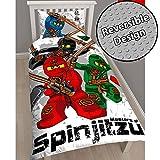 Lego Ninjago Warrior Single/US Twin Duvet Cover and Pillowcase Set