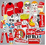 Sticker Supreme Waterproof and Oil Proof Sticker Decal for Skateboard Laptop Toy car Luggage Superhero Decal Graffiti Stickers (preme1)