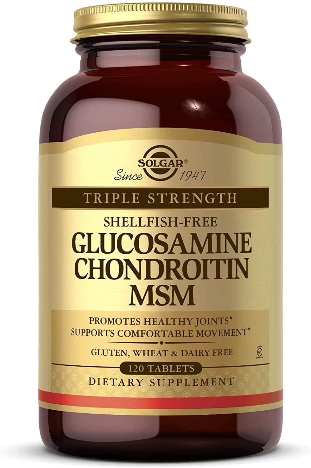 Solgar Our shop Genuine most popular Triple Strength Glucosamine 120 Tablets Chondroitin MSM
