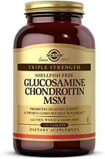 Solgar Triple Strength Glucosamine Chondroitin MSM, 120 Tablets - Promotes Healthy Joints, Supports Comfortable Movement -...