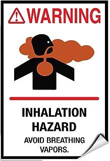 Warning Inhalation Hazard. Avoid Breathing Vapors. Label Decal Sticker 8